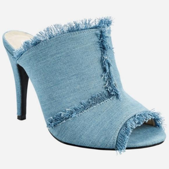 6452f3bb8676 Ashley Stewart Shoes - 🆕 Ashley Stewart Denim Stiletto Mules 12W